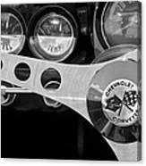 1962 Chevrolet Corvette Convertible Steering Wheel Canvas Print