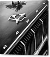 1962 Dodge Polara 500 Grille - Hood Emblem Canvas Print