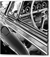 1962 Dodge Polara 500 Side Emblem - Steering Wheel Canvas Print