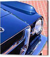 1962 Ghia L6.4 Coupe Grille Emblem Canvas Print