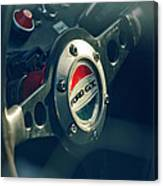 1965 Ford Gt 40 Steering Wheel Emblem Canvas Print
