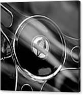 1965 Ford Mustang Cobra Emblem Steering Wheel Canvas Print