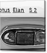 1965 Lotus Elan S2 Taillight Emblem Canvas Print
