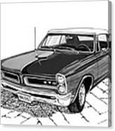 1965 Pontiac G T O Convertible Canvas Print
