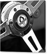 1965 Shelby Cobra 427 Steering Wheel Emblem Canvas Print