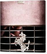 1966 Ferrari 330 Gtc Coupe Grille Emblem Canvas Print