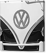 1966 Volkswagen Vw 21 Window Microbus Emblem Canvas Print