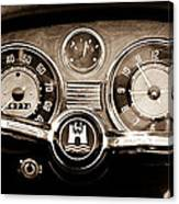 1966 Volkswagen Vw Karmann Ghia Steering Wheel Canvas Print