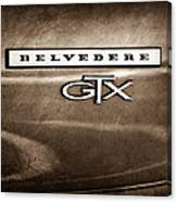 1967 Plymouth Gtx Belvedere Emblem Canvas Print