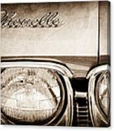 1968 Chevrolet Chevelle Hood Emblem Canvas Print