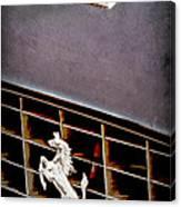 1968 Ferrari 365 Gtc Hood Emblem - Grille Emblem Canvas Print