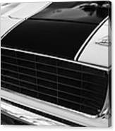 1969 Chevrolet Camaro Rs-ss Indy Pace Car Replica Grille - Hood Emblems Canvas Print