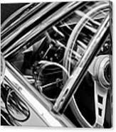 1969 Lamborghini Islero Steering Wheel Emblem Canvas Print