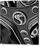 1969 Shelby Gt500 Convertible 428 Cobra Jet Steering Wheel Emblem Canvas Print