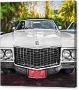 1970 Cadillac Coupe Deville Convertible Painted  Canvas Print