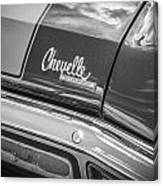 1970 Chevy Chevelle 454 Ss Bw  Canvas Print