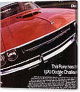 1970 Dodge Challenger R/t  Canvas Print