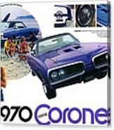 1970 Dodge Coronet Super Bee Canvas Print