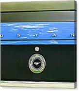 1970 Ford Mustang Boss 302 Fastback Taillight Emblem Canvas Print
