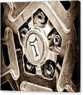 1972 Detomaso Pantera Wheel Emblem Canvas Print