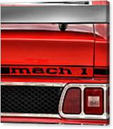1973 Ford Mustang Mach 1 Canvas Print