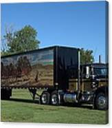 Smokey And The Bandit Tribute 1973 Kenworth W900 Black And Gold Semi Truck Canvas Print