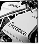 1993 Ducati 900 Superlight Motorcycle Canvas Print