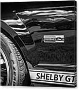 2007 Ford Mustang Shelby Gt500 Painted Bw  Canvas Print
