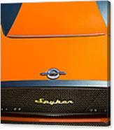 2009 Spyker C8 Laviolette Lm85 Grille Emblem Canvas Print