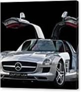 Mercedes Benz S L S  Gull-wing Canvas Print