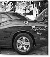 2010 Plymouth Superbird Bw  Canvas Print