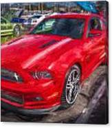 2013 Ford Mustang Gt Cs Painted  Canvas Print