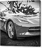 2014 Chevrolet Corvette C7 Bw   Canvas Print