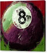8 Ball Billiards Abstract Canvas Print