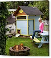 A Backyard Chicken Coop In Bellingham Canvas Print