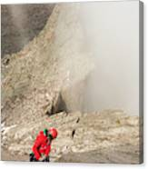 A Climber Descending Longs Peak Canvas Print