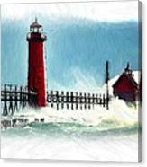 A Day At The Coast Canvas Print