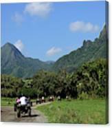 A Group Of Atv Quad Riders Take Canvas Print