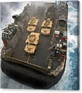 A Landing Craft Air Cushion Exits Canvas Print