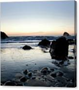 A Landscape Of Rocks On The Coast Canvas Print