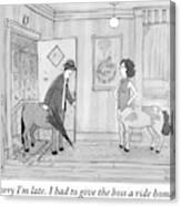 A Male Centaur Canvas Print