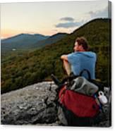 A Man Hikes Along The Appalachian Trail Canvas Print