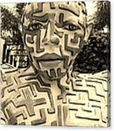 1 A Maze Ing Man Sepia Canvas Print