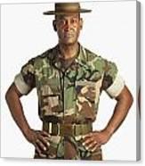 A Military Man Canvas Print