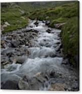 A Mountain Stream In Vanoise National Canvas Print