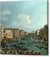 A Regatta On The Grand Canal Canvas Print