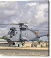A Spanish Navy Sh-3d Helicopter Canvas Print