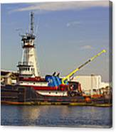 A Tough Old Tugboat Canvas Print