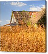 Abandoned Farmhouse In Field 3 Canvas Print