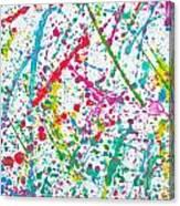 Abstract Color Splash Canvas Print